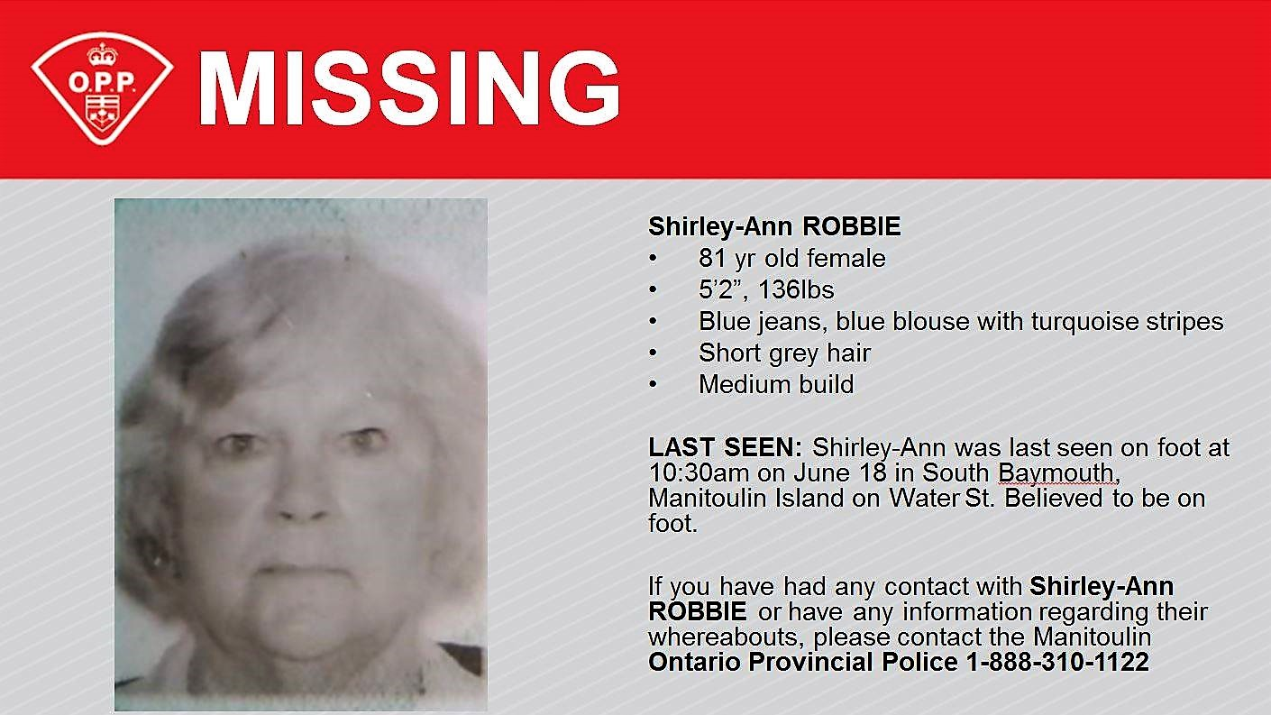 Search for missing Manitoulin Island woman