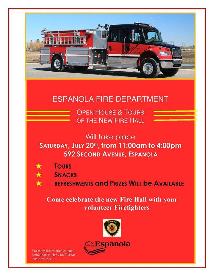 New Espanola Fire Hall open for tours